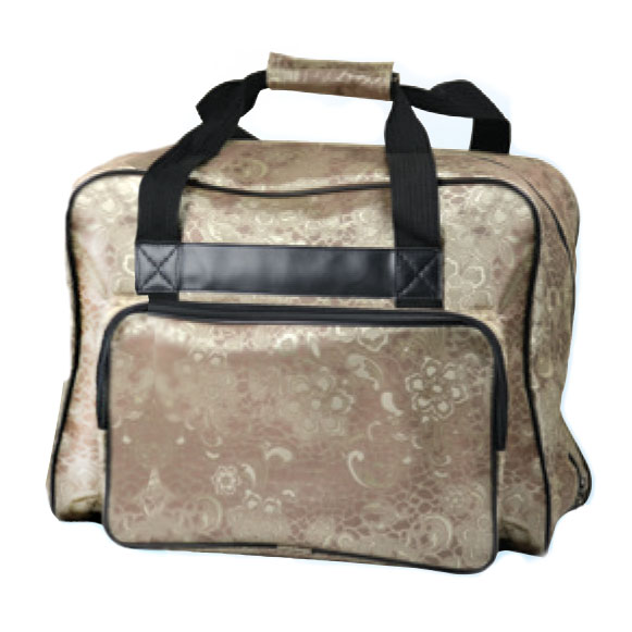 Janome Sewing Machine Tote Bag in Gold with Light Floral Print at Sears.com