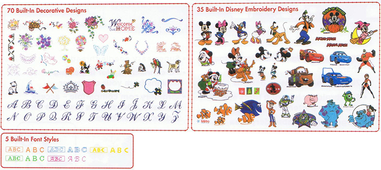 Brother Se  Disney Embroidery Designs